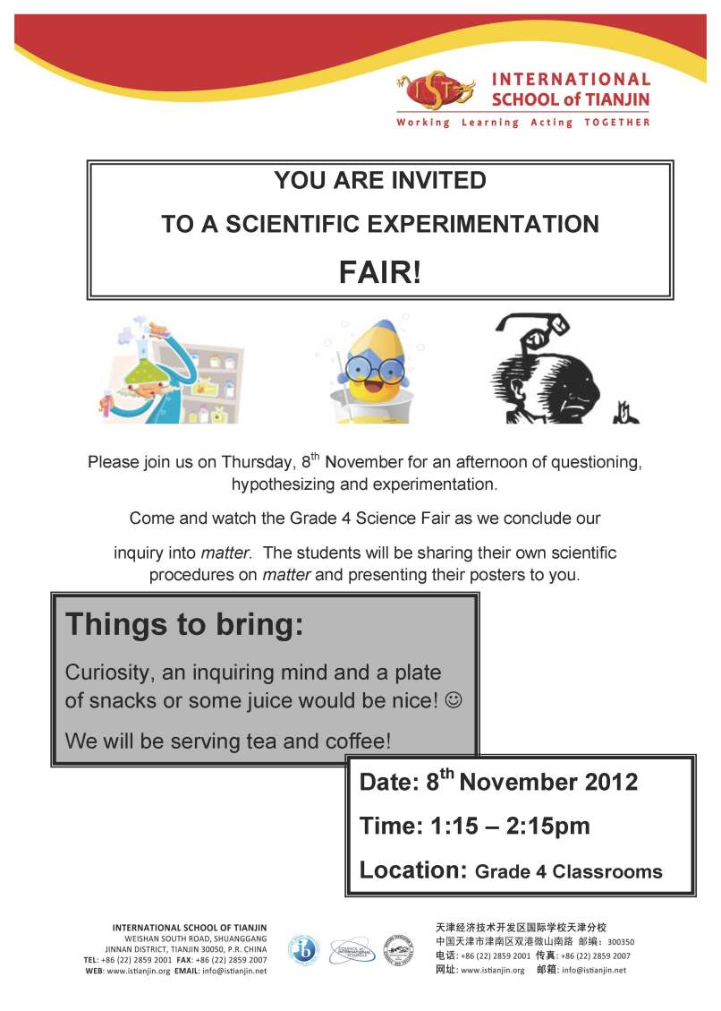 Sample invitation letter science fair invitationjpg grade 4 science fair invitation esl stopboris Image collections